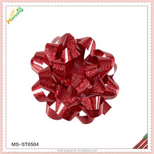 mini Star bow by machine for X'mas day and gift boxes in holographic poly material