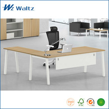 Modern executive desk office table with powder coated steel legs
