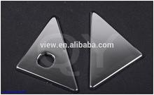 e triángulo trasero de cromo de la cubierta para fj150 prado land cruiser 2014 por abs cromado de plástico 3m detrás de la cinta