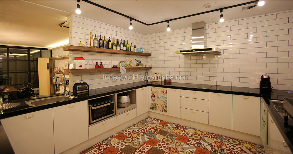 modern house kitchen backsplash white subway tile