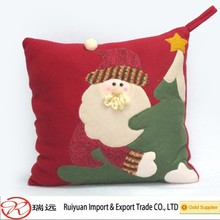 2015 DIY Alibaba Christmas 30*30cm Felt Pillow at Competitive Price Made in Ruiyuan