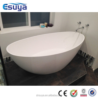 2015 Newest Style Design Acrylic Freestanding Shallow Bathtub Small Sizes