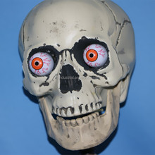 Factory Manufacture Plastic Halloween Decorative LED Light Skull devil mask