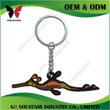 Die casting 3d silver brushed wrench keychain