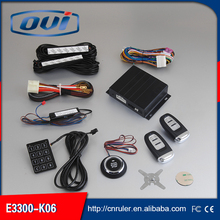 Keyless entry function and DC 12 V voltage auto one way car alarm for security with button start