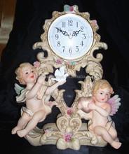 Resin Baby Angel Clock, Polyresin Angel Figure, Cartoon Angel Baby