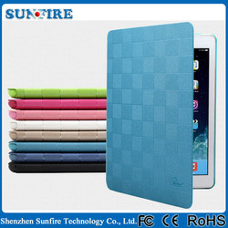 Check design Leather Case for ipad mini 3 case, for ipad mini leather case