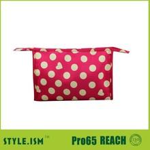 Dot latest design handbags hand promotional beautiful cosmetic bag