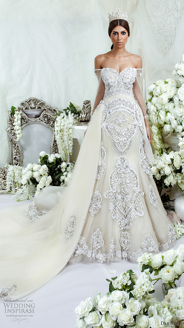 Ds-07 High Quality Beaded Crystals Wedding Bridal Gown With ...