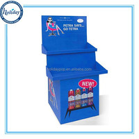 Supermarket Display Stand For Bottles,Retail Store Floor Stand Cutom Cardboard Liquor Bottle Display Shelf