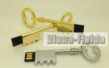 Waterproof key usb 4gb,golden metal key usb flash memory 8gb,logo printing key usb flash memory disk 16gb