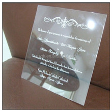 wholesale clear rustic acrylic wedding invitation