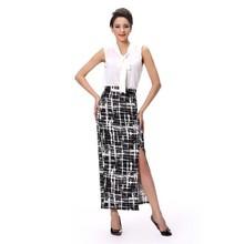 New arrival lady chiffon top women shirt sleeveless blouse for girl