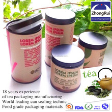 Custom round empty paper tea can for herbal tea wholesale in china