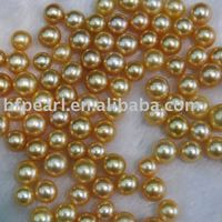 wholesale 9-10mm Genuine Loose Golden South Sea Pearl