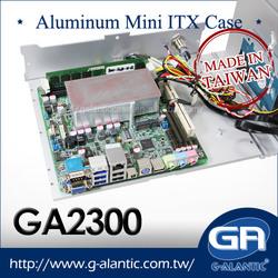 GA2300 Fully Aluminum Fanless Mini ITX Computer Case