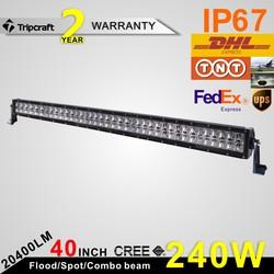 SUPER BRIGHT! 40 INCH 240W 4D LED LIGHT BAR OFF ROAD for Off Road Car ATV Trailer 4X4 Truck