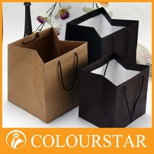 Recyclable boutique package paper bag