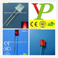 low price 5mm 3mm flat top 630nm red led in competive price
