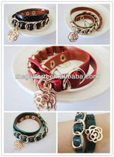 Gold Jewelry Wholesale Supplies Vintage Leather Bracelet