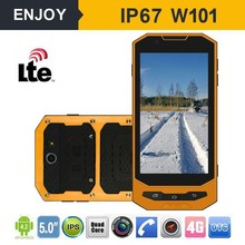 Outdoor dual sim mtk 6732 android 4.4 4g lte rugged waterproof mobile phone with 13.56mHz NFC reader