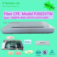 4*1000M+2POTS+CATV Triple play wireless 300M 2T2R WiFi fiber optical CPE