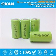 KAN ROHS certifed 1.2V 2/3AA 700mAh rechargeable Ni-MH battery for mini rc car, boat, helecopter, rc model, rc toy
