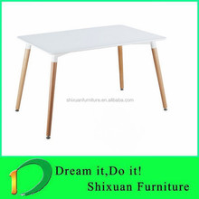 hot sale wood legs dining MDF table