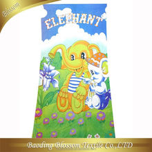 microfiber quick dry high absorbent transfer reactive printed dual side thick plush microfiber towel