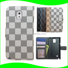 Cellphone PU Leather Wallet Protector Case For Samsung Galaxy Note 4