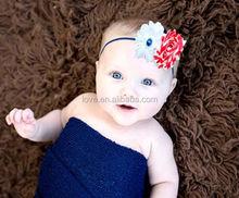 Fashionable Cute Frayed PATRIOTIC HEADBAND Infant, Stock Headband 35cm