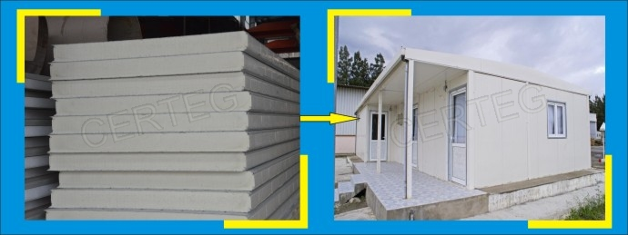 50mm Prefab Houses Pu Polyurethane Metal Exterior Wall Sandwich Panel Price