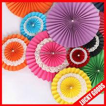 popular round paper fan wholesale