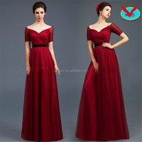 ladies western fat red Banquet toast evening dress