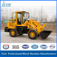 New small backhoe tractor wheel front end loaders for sale Loader ZL18 with low price