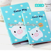 FL3275 2013 Guangzhou hot selling lovely pig animal shape leather flip case for ipad air 5