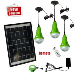 2014 New CE Portable Solar Power Camping Kit with LED lights & USB charger