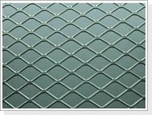 Flatten diamond metal mesh for auto air filters