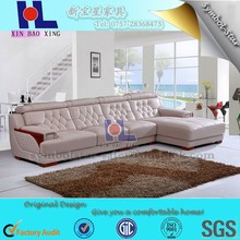 #2238 Luxury quality genuine leather lounge sofa used in living room corner sofa