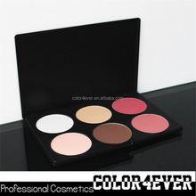 Gold supplier!Wholesale makeup 6colours blusher contour palette angle blush brush