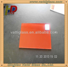 1.5-6mm low price for high quality red wine colored back double painted mirror decorative glass