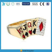 Gothic Style Stainless Steel Finger Ring With Poker Shaped