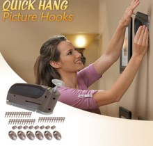 Hang picture hanging wall hooks Drywall Hanger Wall / Quick Hang Picture Hook Kit