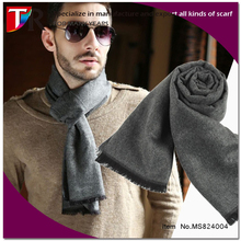 2015 fashion soft wool feel man muffler plain color cashmere men scarves