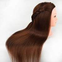 Wholesale 100% Human Hair Trainning Mannequin Head With Blonde Hair