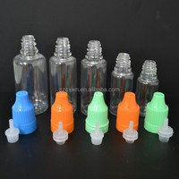 High Quality Eye Drop Bottle With Childproof Cap, Pet Eliquid Bottle 30ml Clear Amber Pet Dropper Bottle