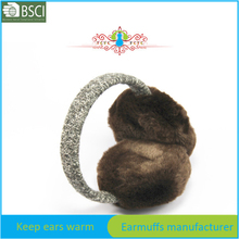 Woolen knit headband ear warmers for women