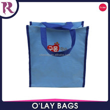 Zhejiang 600D polyester tote shopping bag with pvc coating and magic button