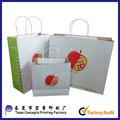 insignia de la impresión bolsa de papel kraft