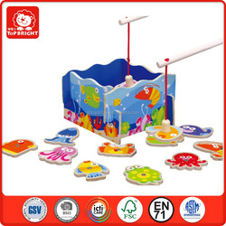 Top Bright BSCI and ICTI manufacturer in China 3d wood puzzle game magnetic fishing toy game confirm to EN71 and ASTM